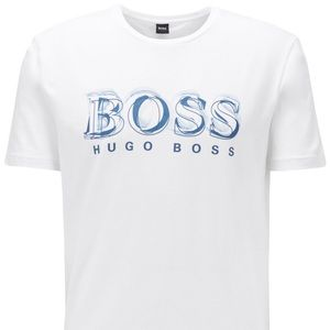 NWT Hugo Boss White Stretch-Cotton T-Shirt